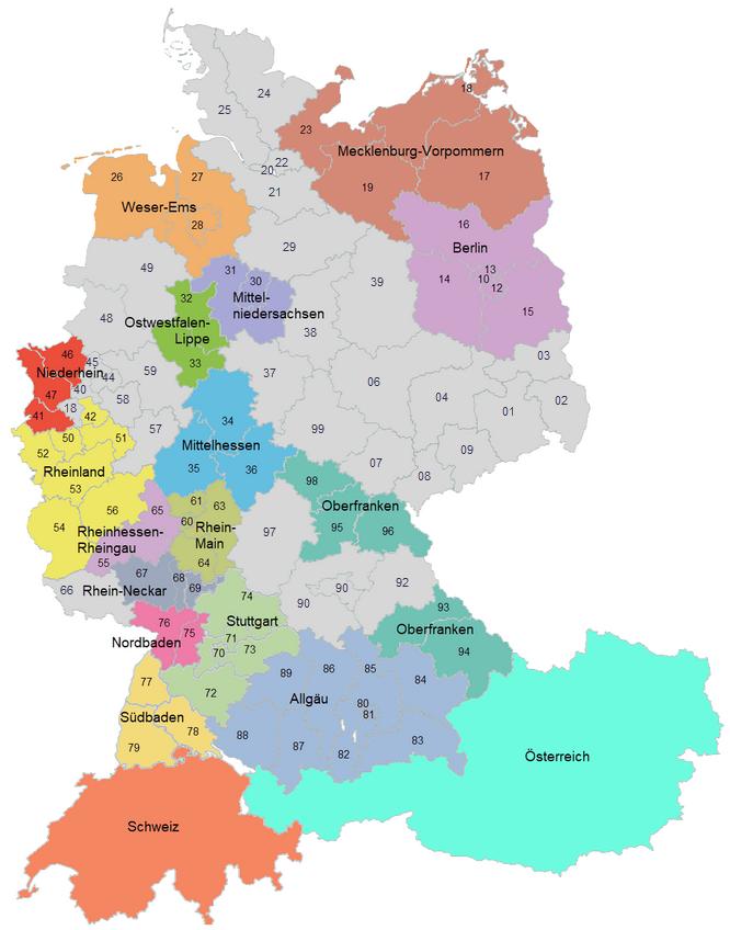 Arbeitskreise und Regionen